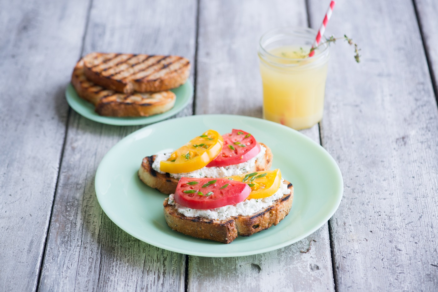 Rustic Heirloom Tomato Toast