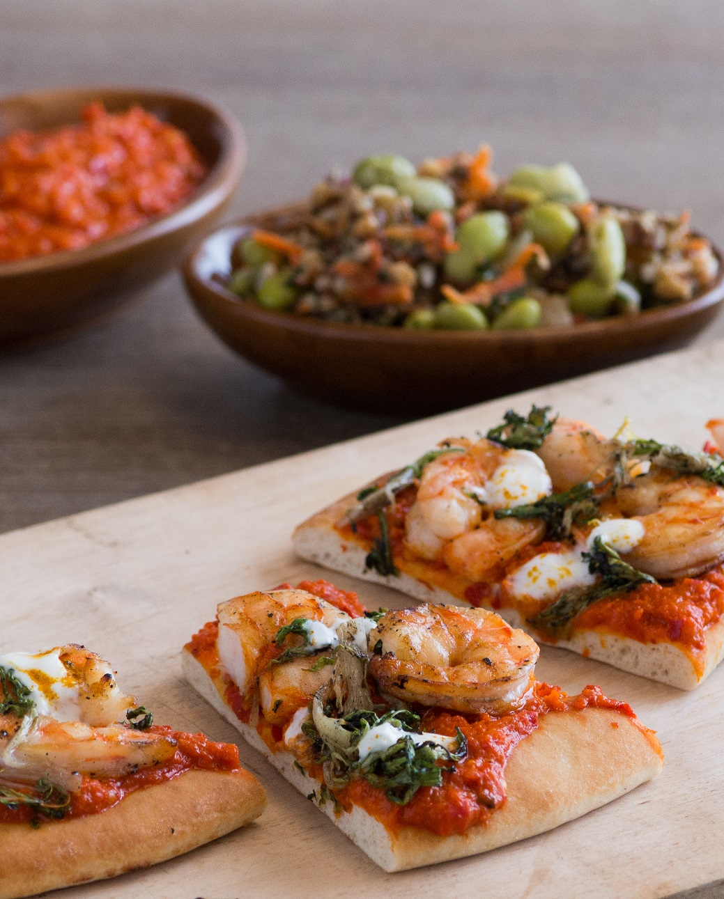 Grilled Shrimp with Smokey Romesco