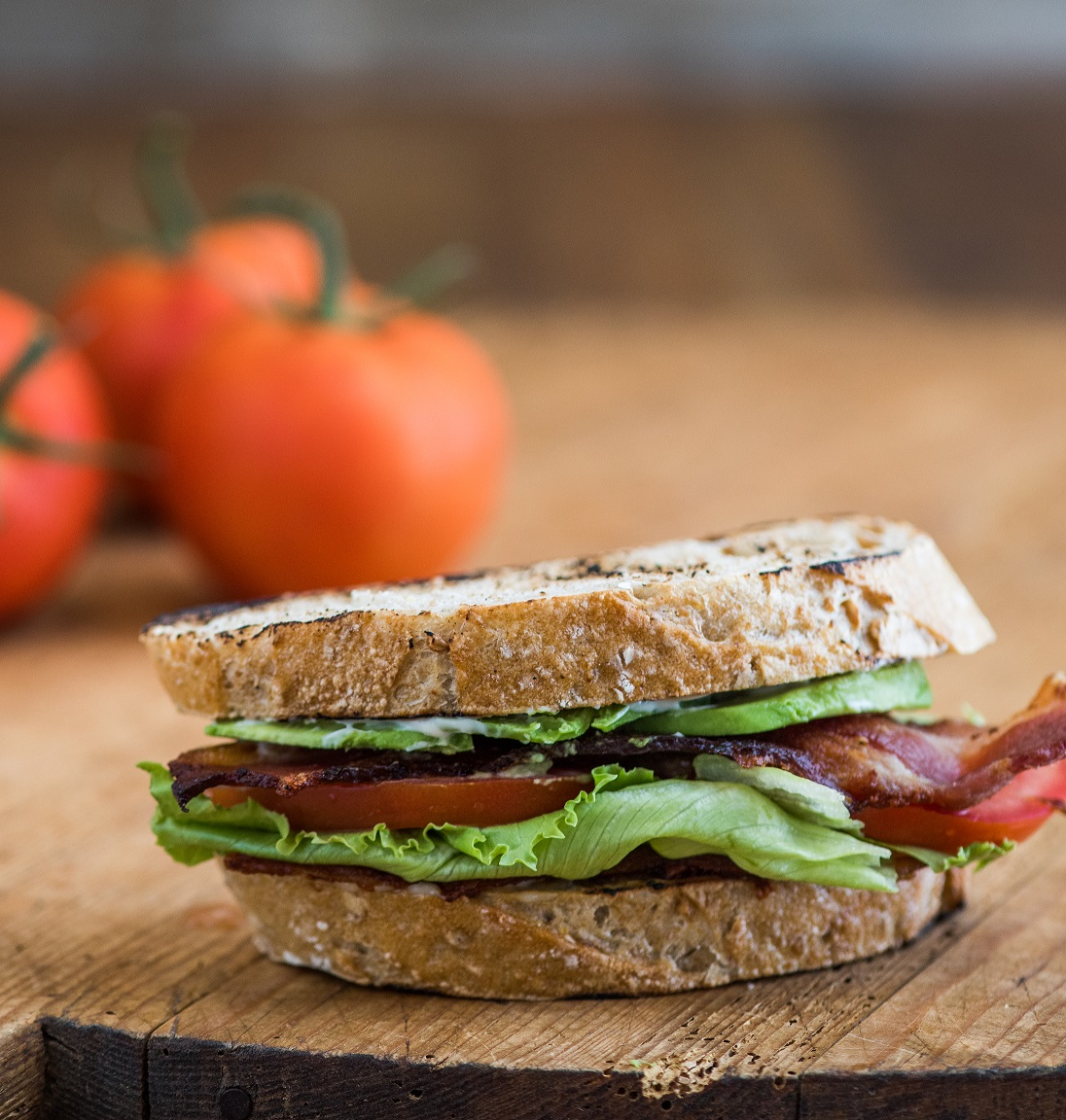 Bacon Lettuce Tomato Avocado Sandwich