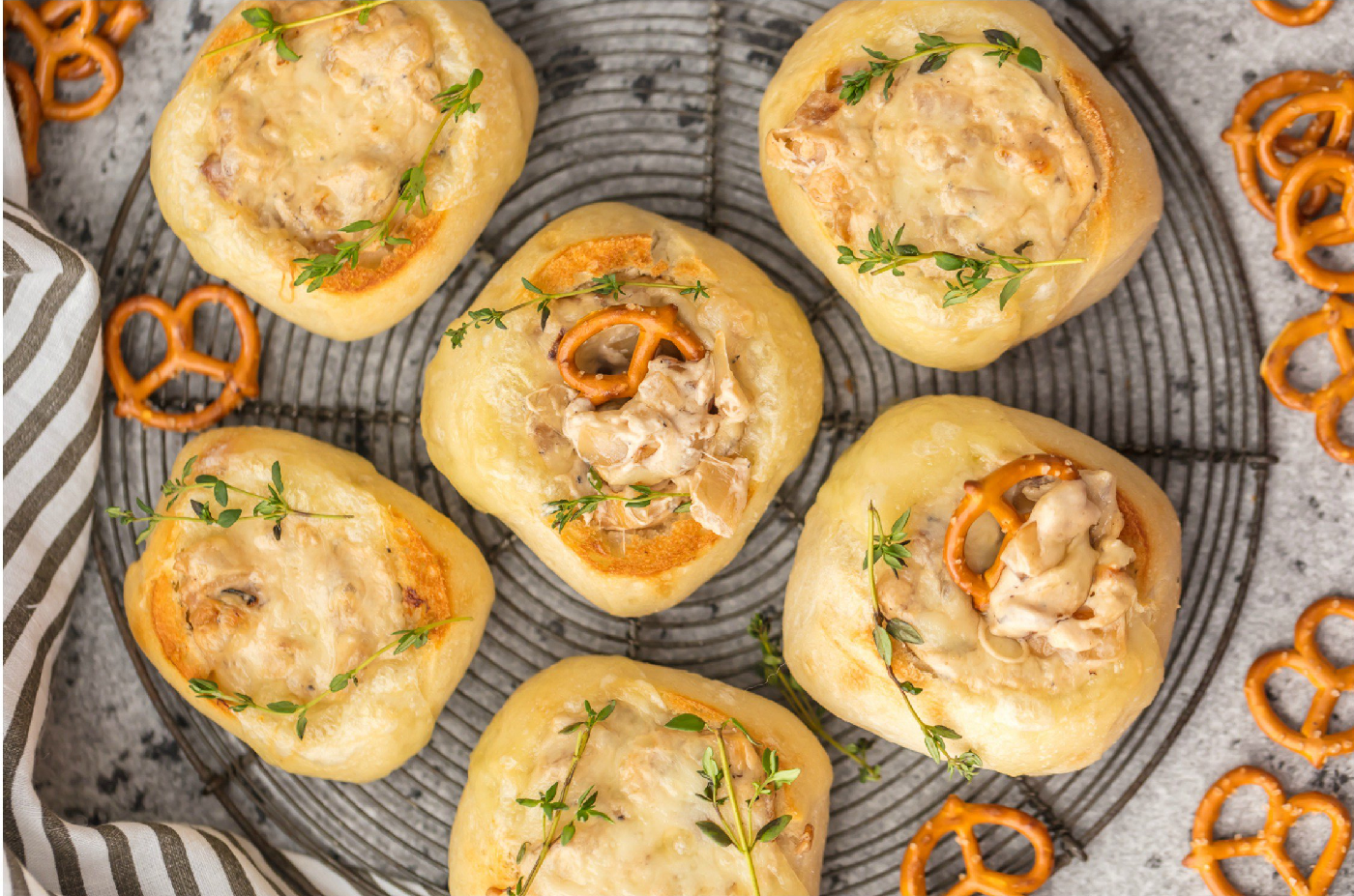 Mini French Onion Dip Bread Bowls
