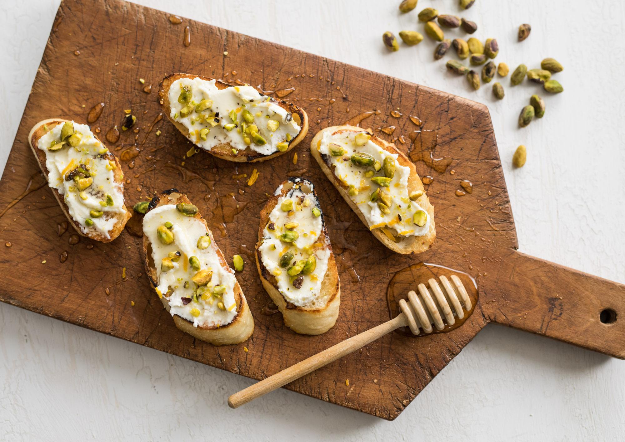 Honey Toast with Ricotta and Pistachios | La Brea Bakery