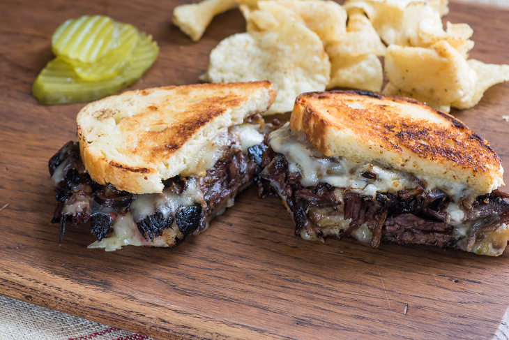 Cowboy Brisket Grilled Cheese