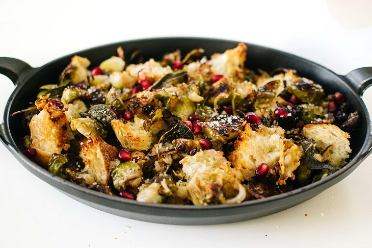 La Brea Bakery Three Cheese Semolina Sage  Roasted Brussels Sprouts Recipe
