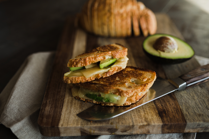 La Brea Bakery Three Cheese Semolina Loaf Avocado Grilled Cheese Recipe