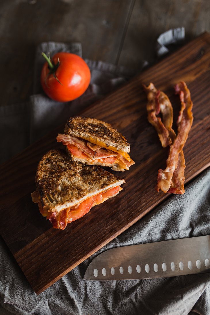 La Brea Bakery Whole Grain Loaf Bacon Cheese Tomato Grilled Cheese Recipe