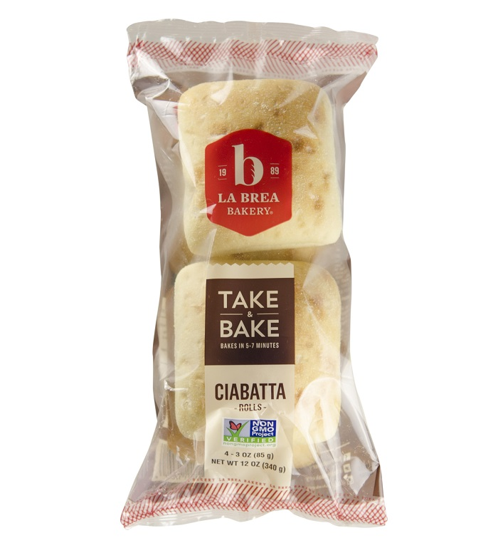 Take and Bake Ciabatta Roll Package