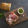 Prosciutto and Ricotta with Ka1e Pesto