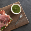 Prosciutto and Ricotta with Kale Pesto
