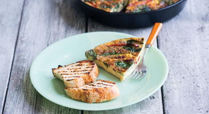 Cast Iron Grilled Frittata Recipe
