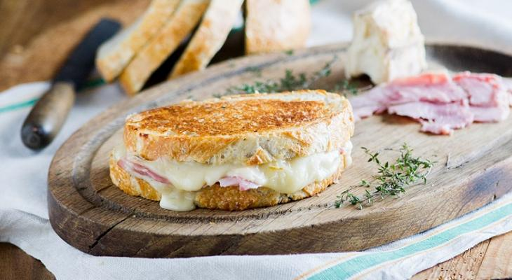 Ham and Taleggio Grilled Cheese