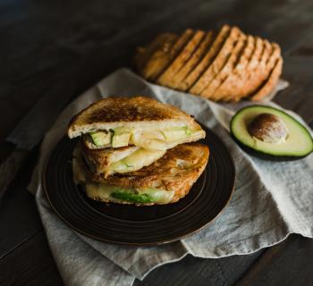 Avocado Grilled Cheese on Three Cheese Semolina Loaf