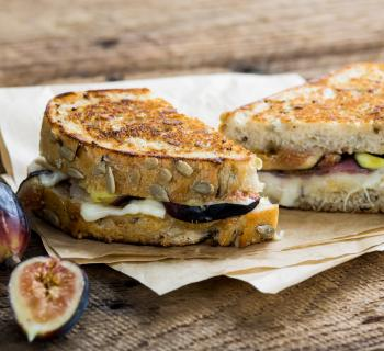 La Brea Bakery Fig, Prosciutto, and Taleggio Grilled Cheese