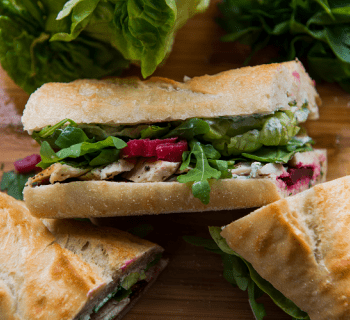 La Brea Bakery Baguette Grilled Chicken Beets Sandwich
