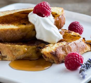 Cranberry White Chocolate French Toast
