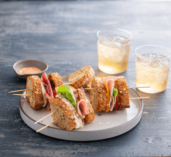 Cocktail Sandwich Skewers