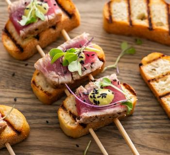 Colorful Grilled Tuna Skewers